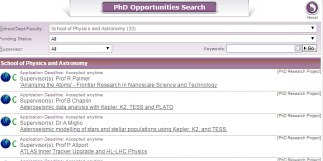 PhD and research studentships