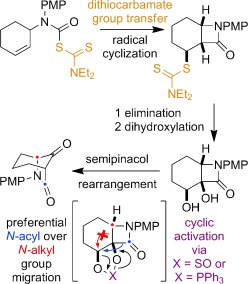 Carbamoyl radical-mediated synthesis and semipinacol rearrangement of β-lactam diols