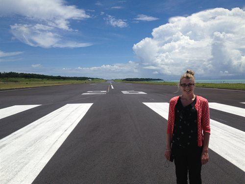 Inspecting the performance of the runway pavement