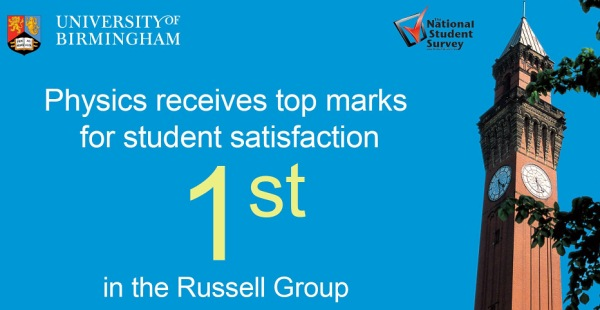 Physics and Astronomy receives top marks for student satisfaction