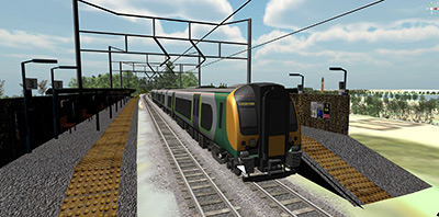 Computer simulation of Selly Oak train station