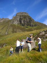 MSci Class about to Scale Stac Pollaidh, North west Scotland