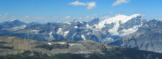 Mountain panorama from Chris Bradley's fieldwork