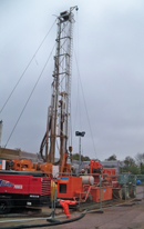 Drilling rig for a new water supply borehole