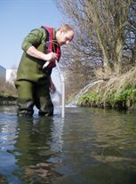Fieldwork - taking river samples