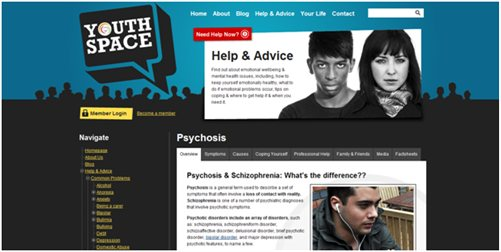 YouthSpace website screenshot