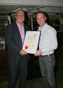 Ian Elliot receiving British Psychological Society's 2011 Junior Award in Forensic Psychology