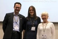From left: Professor Petrus de Vries, Mary Heald, and Professor Pat Howlin