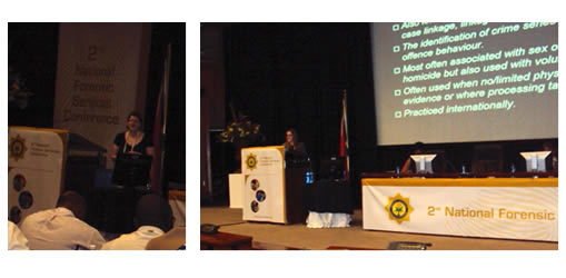 Presenting at the 2nd National Conference for Forensic Science