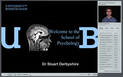 Welcome to the School of Psychology video still