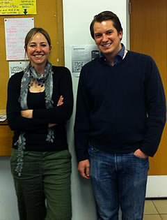 Prof. Alice Roberts and Jonathan Cox