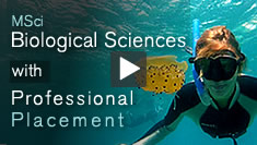 Biological Sciences with Professional Placement video