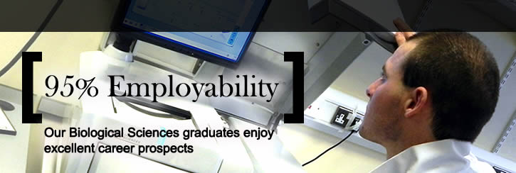 95% Employability for Biological Sciences graduates