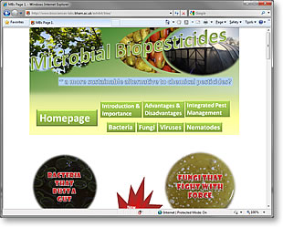 Microbial Pesticides website homepage