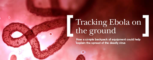 Tracking ebola on the ground