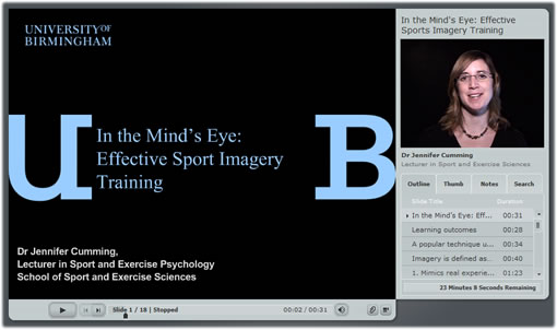 In the mind's eye - Video lecture