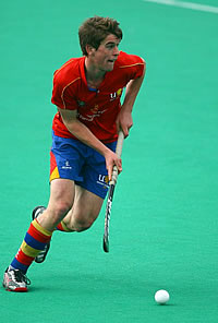 Scott Evans playing hockey