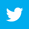 Twitter logo white on blue