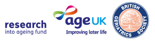 Logos for Age UK and British Geriatrics Society