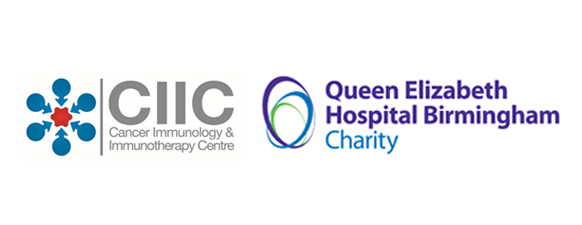 Cancer Immunology and Immunotherapy Centre logo and Queen Elizabeth Hospital Charity logo