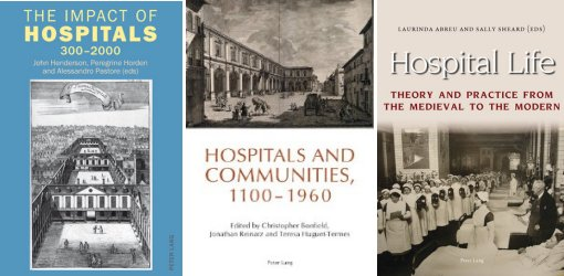 "Clippings ""The Impact of Hospitals 300-2000"", ""Hospitals and Communities, 1100-1960"" and ""Hospital Life, Theory and practice from the Medieval to the Modern"""