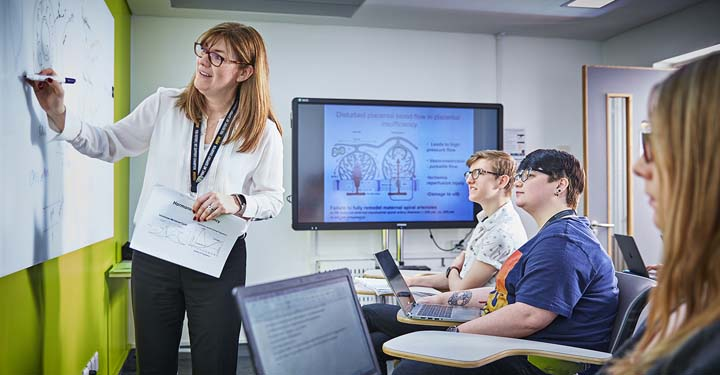 Image of woman teaching in a classroom