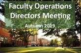Faculty Operations Directors Meeting