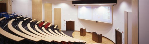 Leonard Deacon Lecture Theatre in the Wolfson Centre - Centre for Professional Development