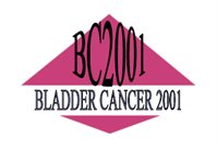 A logo for the BC2001 Trial with black lettering on a pink diamond background.