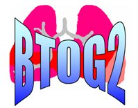 BTOG 2 logo with stretched lettering and some lungs as the backdrop.