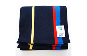 Navy, yellow, red and blue scarf