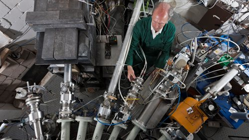 Our cyclotron is being adapted to irradiate materials to test suitability for nuclear plants