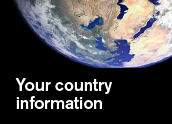 Specific information for your country