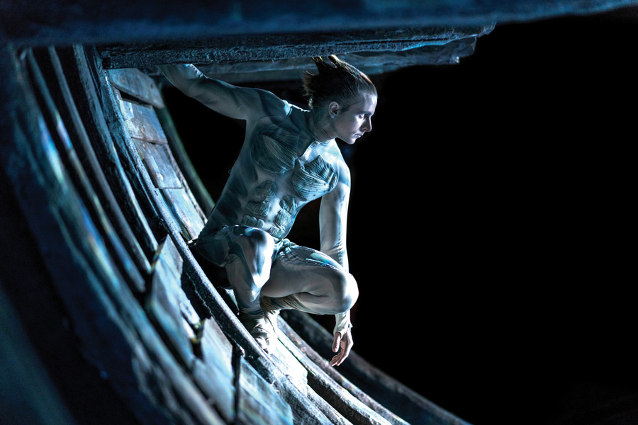Ariel in The Tempest at the Royal Shakespeare Company (photograph: Topher McGrillis)