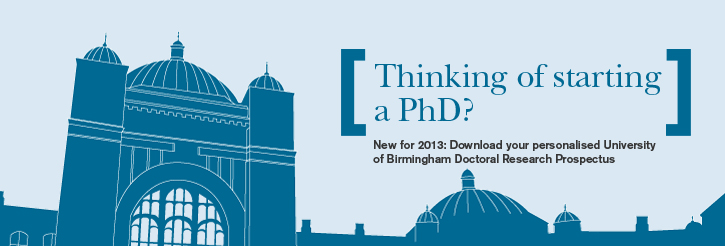 University of Birmingham Doctoral Research Prospectus