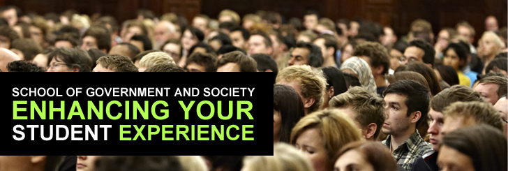 In the School of Government and Society we offer much more than a degree. As a student here, whether undergraduate or postgraduate, you have the opportunity to take part in a wide range of events, with some or all of the costs paid for by the School.