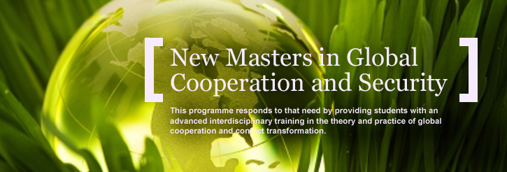 New Masters degree in Global Cooperation and Security
