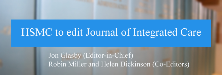 HSMC to edit Journal of Integrated Care