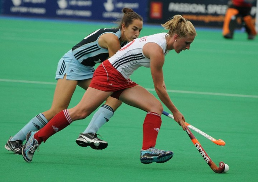 Susie Gilbert in action for England