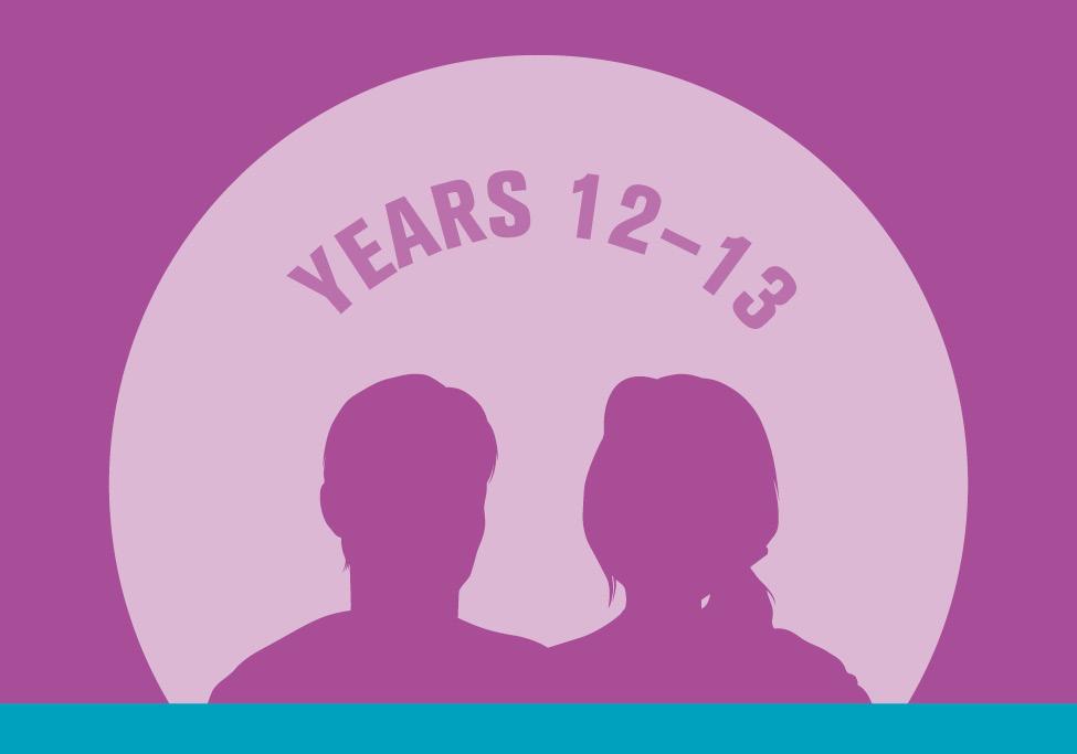 Year 12 - 13