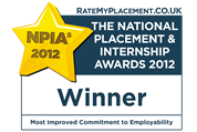 NPIA most improved commitment to employability award winner 2012