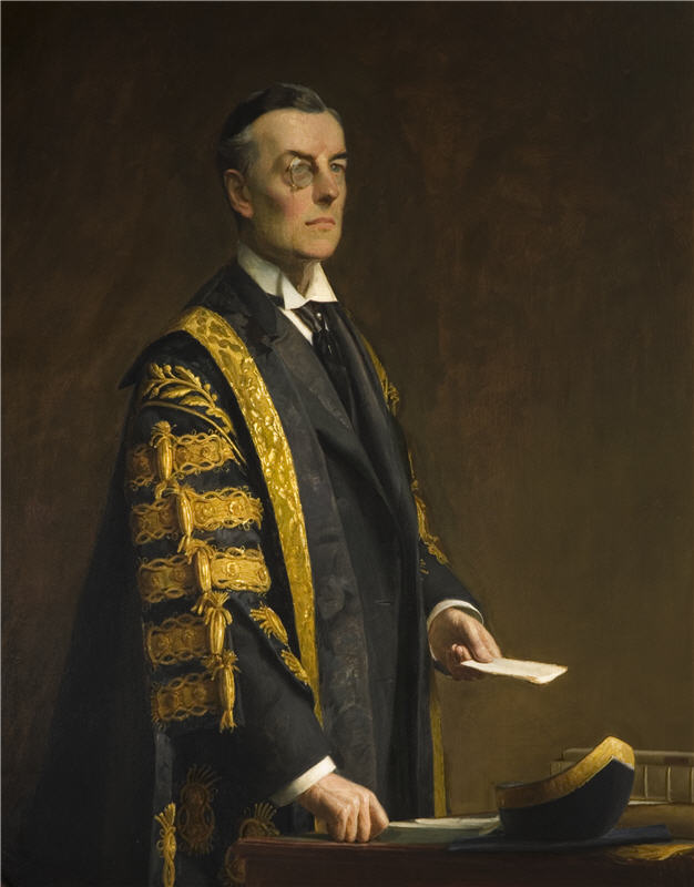 Harrington Mann (1864-1936) Portrait of the Rt Hon. Joseph Chamberlain, MP, C.1900, Oil on canvas, Research & Cultural Collections