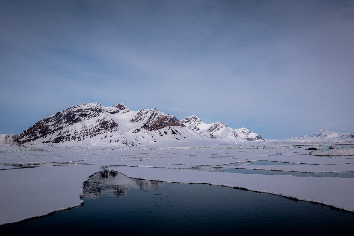 Landscape of Svalbard in the Arctic Ocean