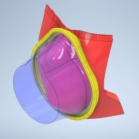 3D image rendering of a new facemask design