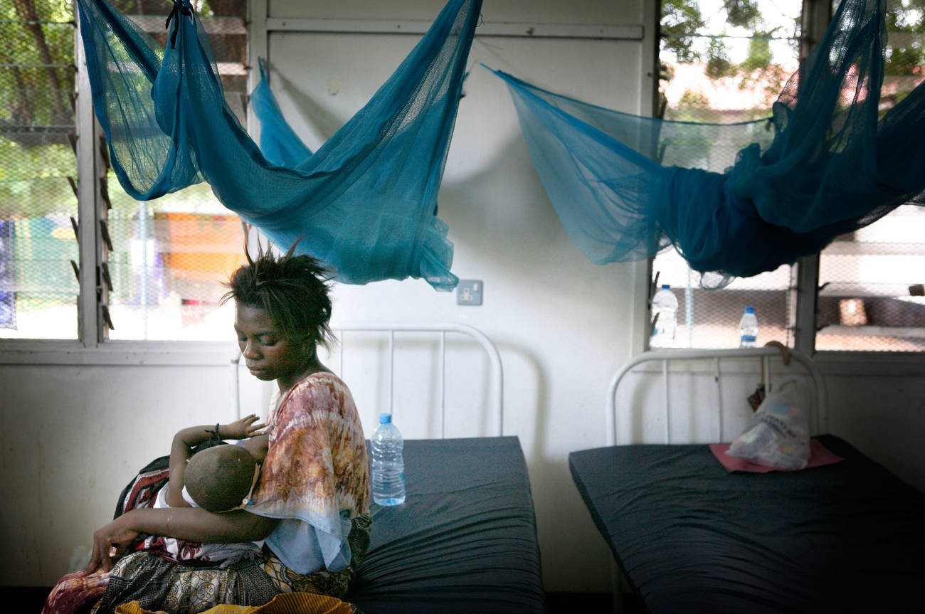 The maternity ward of a hospital in Tanzania