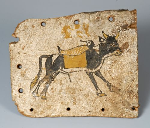Coffin footboard, Egyptian, Archaeology Collection