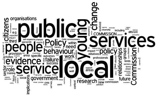 Policy Commissions word cloud