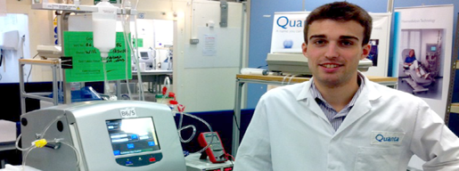William Davies' summer placement at Quanta