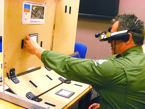 RAF pilot using augmented reality