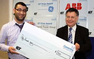 EECE students win IET Midland Power Group competition